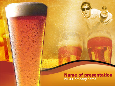 Beer Presentation Template, Master Slide