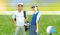 Couple of Golfers Presentation Template