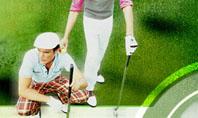 Golfers On The Field Presentation Template