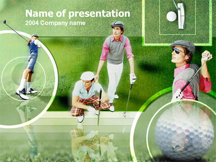 Golfers On The Field Presentation Template, Master Slide