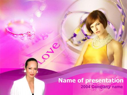 Women and Diamonds Free Presentation Template, Master Slide