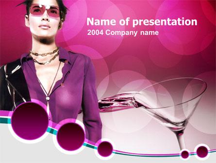 Night Club Presentation Template, Master Slide