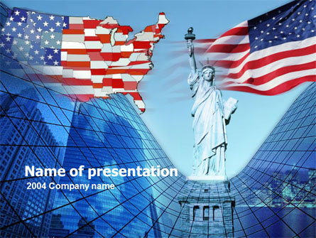 American Glory Presentation Template, Master Slide