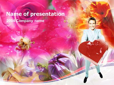 Valentines Day Gift Presentation Template, Master Slide