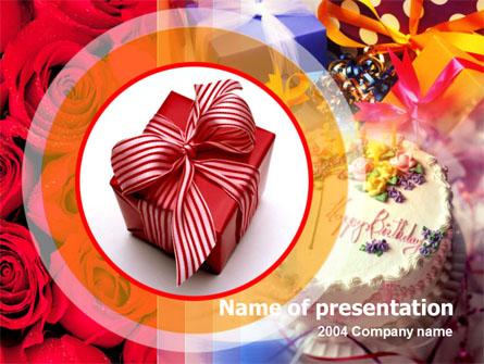 Birthday Present Presentation Template, Master Slide