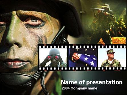 American Soldier Presentation Template, Master Slide