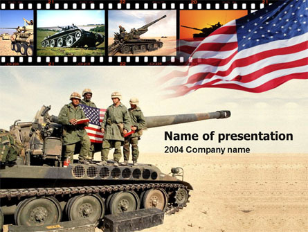 American Army Presentation Template, Master Slide