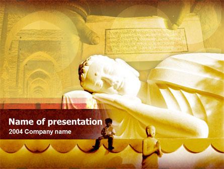 Sleeping Buddha Presentation Template, Master Slide