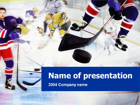 Ice Hockey Presentation Template, Master Slide  Hockey Templates Free