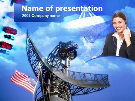 Radio Transmission Presentation Template, Master Slide