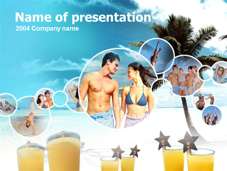 Beach Party Presentation Template, Master Slide
