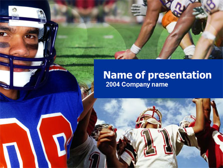 American Football Presentation Template, Master Slide