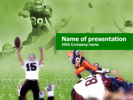 American Association Football Presentation Template, Master Slide