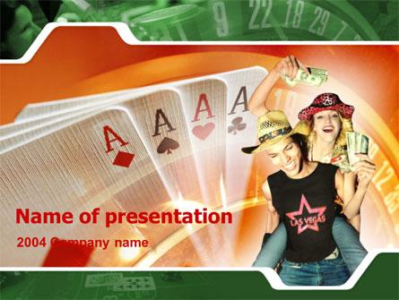 Card Games In Casino Presentation Template, Master Slide