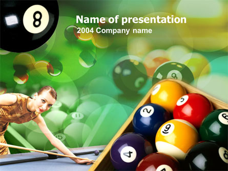 Billiard Player Presentation Template, Master Slide
