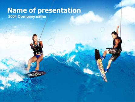 Surfing Presentation Template, Master Slide
