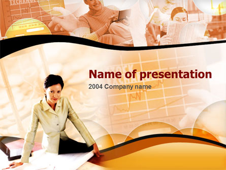 Business Team Presentation Template, Master Slide