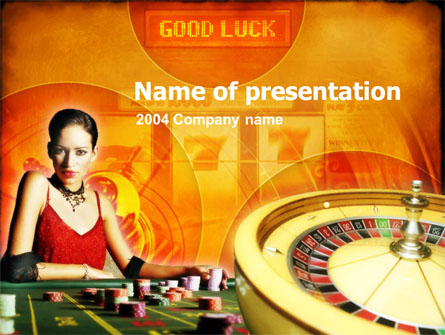 Casino Player Presentation Template, Master Slide