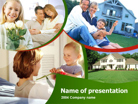 Family Home Presentation Template, Master Slide