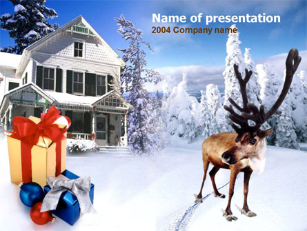 Christmas Deer Presentation Template, Master Slide