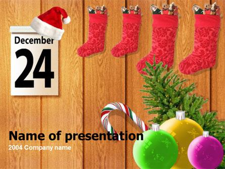 25th December Presentation Template, Master Slide