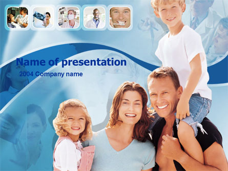 Family Health Presentation Template, Master Slide