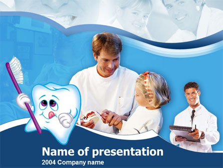 Oral Health Education Presentation Template, Master Slide