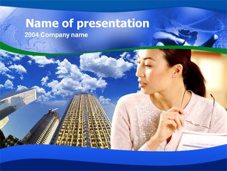 Asian Women in Business Presentation Template, Master Slide
