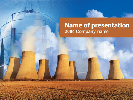 Thermoelectric Power Station Presentation Template, Master Slide