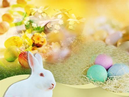 Easter Bunny Presentation Template, Master Slide