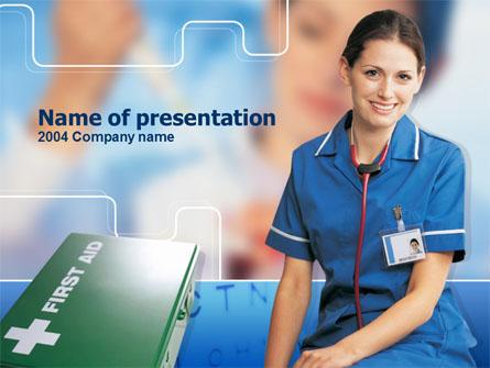 Nurse Leader Presentation Template, Master Slide