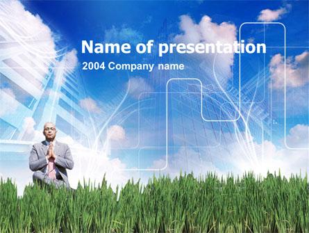 Business Growing Presentation Template, Master Slide