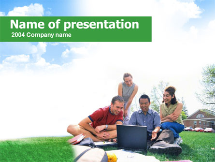 Students Life Presentation Template, Master Slide