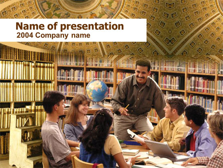 Seminar Presentation Template, Master Slide