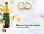 Wedding Rings And Champagne slide 1