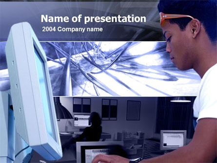 Telecommunication Center Presentation Template, Master Slide
