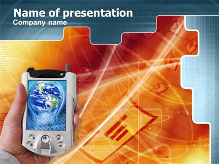 Portable Communicator Presentation Template, Master Slide
