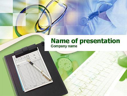 Medical Records Presentation Template, Master Slide