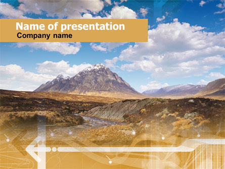 Romantic Mountain View Presentation Template, Master Slide