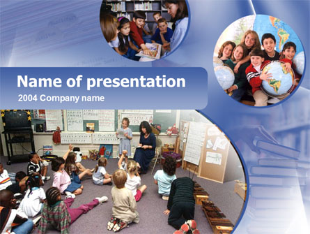 Primary Education Presentation Template, Master Slide