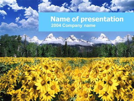 Alpine Flowering Meadows Presentation Template, Master Slide
