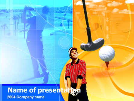 Golf Player Free Presentation Template, Master Slide
