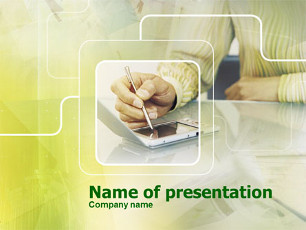 Portative Communicator Presentation Template, Master Slide