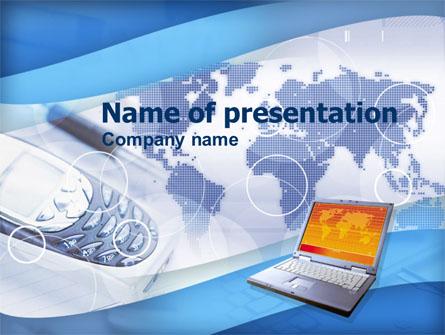 Mobile Communication Devices Presentation Template, Master Slide
