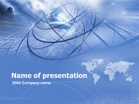 Telecommunications Links Presentation Template, Master Slide