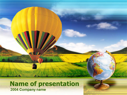 Aeronautics Presentation Template, Master Slide