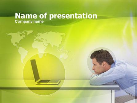 Man And Laptop Presentation Template, Master Slide