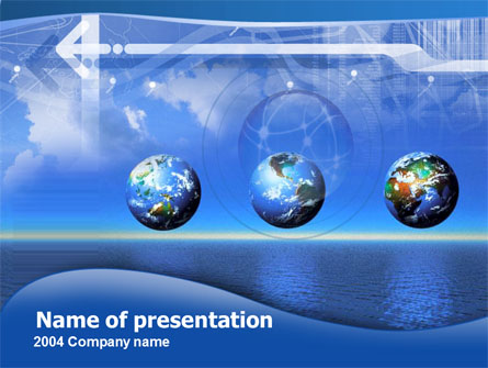 Globes Over The Sea Presentation Template, Master Slide