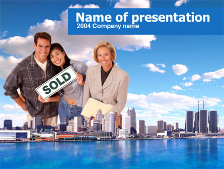 Big City Real Estate Agency Activity Presentation Template, Master Slide
