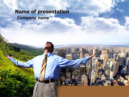 Peak Of Success Presentation Template, Master Slide